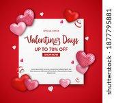 valentine's day sale offer... | Shutterstock .eps vector #1877795881