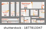 set of real estate web banners...   Shutterstock .eps vector #1877813347