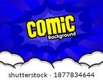 pop art comic background with... | Shutterstock .eps vector #1877834644