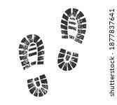 shoe marks footprints sketch... | Shutterstock .eps vector #1877837641