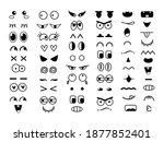 set of cute funny eyes and...   Shutterstock .eps vector #1877852401