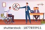 discrimination of disabled... | Shutterstock .eps vector #1877855911