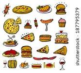 restaurant poster | Shutterstock .eps vector #187795379