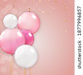 color glossy happy birthday... | Shutterstock . vector #1877996857