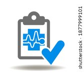 clipboard medical cross with... | Shutterstock .eps vector #1877999101
