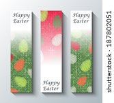 happy easter greeting banner.  | Shutterstock . vector #187802051