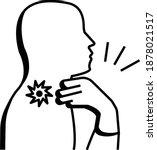 person is having phlegm on... | Shutterstock .eps vector #1878021517