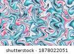 liquid paint marble fluid... | Shutterstock .eps vector #1878022051