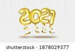 3d gold gel balloons numbers... | Shutterstock .eps vector #1878029377