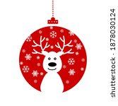 christmas and new years red...   Shutterstock .eps vector #1878030124