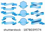 blue ribbon and flat banners... | Shutterstock .eps vector #1878039574