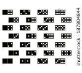 black_domino_set | Shutterstock .eps vector #187804844