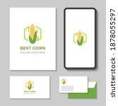 modern corn farm logo and icon... | Shutterstock .eps vector #1878055297
