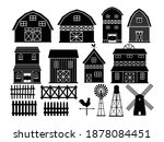 Barn Silhouette Set. Collection ...