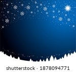 christmas snowy nights... | Shutterstock .eps vector #1878094771