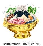 sukiyaki recipe instant pot... | Shutterstock .eps vector #1878105241
