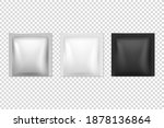 vector 3d realistic foil  white ... | Shutterstock .eps vector #1878136864