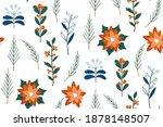 cute hand drawn winter holidays ... | Shutterstock .eps vector #1878148507