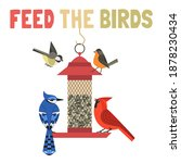 bird feeding flat color vector... | Shutterstock .eps vector #1878230434