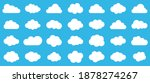set of clouds.abstract white...   Shutterstock .eps vector #1878274267