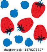 berries vector. banner forest... | Shutterstock .eps vector #1878275527