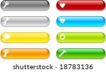 beautiful shiny buttons. vector ... | Shutterstock .eps vector #18783136