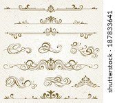 vintage frames and scroll... | Shutterstock .eps vector #187833641