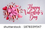 valentines day greeting vector... | Shutterstock .eps vector #1878339547
