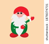 merry new year gnomes on a... | Shutterstock .eps vector #1878374731