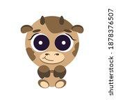 cute cheerful childish... | Shutterstock .eps vector #1878376507