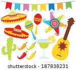 cactus,celebration,chili,chillie,cinco,citrus,de,fiesta,fruit,guitar,hat,hispanic,holiday,illustration,isolated