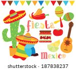 fiesta time   mexico   cinco de ... | Shutterstock .eps vector #187838237