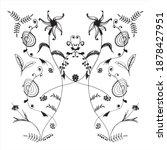 doodle seamless pattern...   Shutterstock .eps vector #1878427951