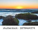 Sunrise Seascape With Haze And...