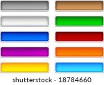 beautiful shiny buttons. vector ... | Shutterstock .eps vector #18784660