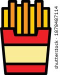 french fries vector icon in...
