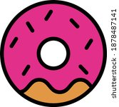 donut vector icon in filled...