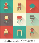 chairs | Shutterstock .eps vector #187849997