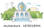 hydroelectric power production  ... | Shutterstock .eps vector #1878518944