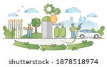 biofuel life cycle process from ... | Shutterstock .eps vector #1878518974