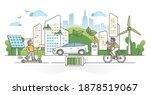 electric transportation as... | Shutterstock .eps vector #1878519067