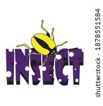 beetles isolated on background  ... | Shutterstock . vector #1878551584