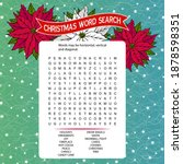 word search puzzle.logic game... | Shutterstock .eps vector #1878598351