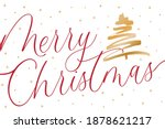 merry christmas tree background ...   Shutterstock .eps vector #1878621217