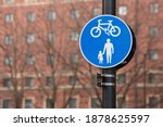shared route for pedestrians... | Shutterstock . vector #1878625597