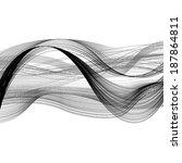 gray black wave line on white... | Shutterstock . vector #187864811