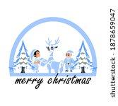 santa clause christmas design... | Shutterstock .eps vector #1878659047