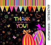 thank you card. vector...   Shutterstock .eps vector #187866749