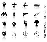 military icons | Shutterstock .eps vector #187867091
