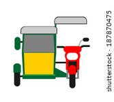 philippine tricycle.... | Shutterstock .eps vector #187870475